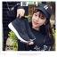 รองเท้าผ้าใบแฟชั่นสุดฮิต หุ้มข้อ คริสตัล IS-901-BLK [สีดำ] thumbnail 2