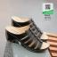 รองเท้าเพื่อสุขภาพส้นเตารีด หนังPU 10179-ดำ [สีดำ] thumbnail 2