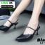 รองเท้าเปิดส้น Zara style หัวแหลม C3-12-BLK [สีดำ] thumbnail 2