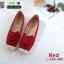รองเท้าผ้าใบแคนวาส งานปักน่ารัก L-345-380-RED [สีแดง] thumbnail 3