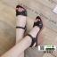 รองเท้าส้นสูงนำเข้า สไตล์เกาหลี 18-1411-BLACK [สีดำ] thumbnail 2