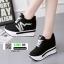 รองเท้าผ้าใบแพลตฟอร์มนำเข้า HWA-536-BLK [สีดำ] thumbnail 1