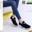 รองเท้าผ้าใบงานผ้าทรงกระชับเท้า 1733B6-BLK [สีดำ] thumbnail 2