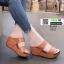 รองเท้าส้นเตารีดแบบสวม2ตอน 8052-น้ำตาล [สีน้ำตาล ] thumbnail 1