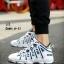 รองเท้าผ้าใบ PU ทรง SPORT-blue A-11 [สีน้ำเงิน] thumbnail 3