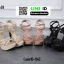 รองเท้าส้นสูงรัดข้อเปิดท้าย 18-1362-BLK [สีดำ] thumbnail 4
