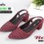 รองเท้าส้นสูงรัดส้น คริสตัล 850-5-MRN [สีม่วง] thumbnail 5