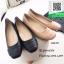 รองเท้าคัทชูส้นเตี้ยสีดำ แต่งหนังซ้อน (สีดำ ) thumbnail 4