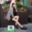 รองเท้าคัทชูส้นสูงสีขาว สวยเก๋หวานๆ (สีดำ ) thumbnail 3