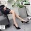 รองเท้าคัชชู ส้นชุบโคเมี่ยม K9329-BLK [สีดำ]