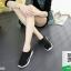 รองเท้าผ้าใบสีดำ ผ้าทอ สไตล์ Balenciaga (สีดำ ) thumbnail 4