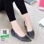 รองเท้าคัชชูเปิดข้าง เสริมส้น 1 นิ้ว 628-1-ดำ [สีดำ] thumbnail 2