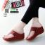 รองเท้าลำลองส้นเตารีดแบบคีบ 268-แดง [สีแดง] thumbnail 1