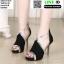 รองเท้าส้นสูงหุ้มส้น ST1619-BLK [สีดำ]