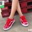 รองเท้าผ้าใบแฟชั่นสีแดง ผ้าแคนวาส ทรง VANS (สีแดง ) thumbnail 1