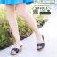 รองเท้าส้นสูง เปิดส้น ส้นตัน SM9031-BLK [สีดำ] thumbnail 3