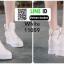 รองเท้าผ้าใบเกาหลี ซิปข้าง ใช้งานได้จริงทั้ง 2 ฝั่ง 11059-ขาว [สีขาว] thumbnail 4