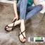 รองเท้าแตะรัดส้น แต่งเข็มขัดด้านข้าง G-1438-BLK [สีดำ] thumbnail 1