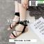 รองเท้าแตะสายคาดไขว้ หนังสักราจ G-1264-BLK [สีดำ] thumbnail 2
