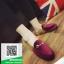 รองเท้าคัทชูเปิดส้นสีแดง สไตล์กุชชี่ (สีแดง ) thumbnail 2