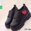 รองเท้าคัทชูเสริมส้นสีดำ little heart (สีดำ ) thumbnail 2