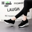 รองเท้าผ้าใบเสริมส้น พิมพ์อักษรด้านหน้า 0567-BLACK [สีดำ] thumbnail 4