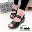 รองเท้าส้นเตารีดรัดข้อ หนังเงา 7797-4-ดำ [สีดำ] thumbnail 4