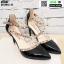 รองเท้าคัชชูรัดข้อหุ้มส้นเปิดข้าง ST8982-BLK [สีดำ] thumbnail 4