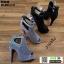 รองเท้าคัชชูเปิดหน้าส้นสูง ST8818-BLK [สีดำ] thumbnail 5