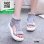 รองเท้าแตะหุ้มข้อสีเทา ใส่หน้าหนาว (สีดำ )