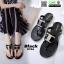 รองเท้าแตะส้นแบน jelly sandals TIT04-BLK [สีดำ] thumbnail 1