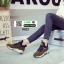 รองเท้าผ้าใบสไตล์เกาหลี 0023-BROWN [สีน้ำตาล] thumbnail 3