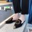 รองเท้าหัวแหลมเปิดส้น หนังชามัวร์นิ่ม 018-BLK [สีดำ] thumbnail 2