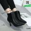 รองเท้าบูทส้นเข็มสีทอง Ankle boot ผ้าพีวีซีเมทัลลิค (สีทอง ) thumbnail 1