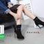 รองเท้าบูทส้นสูงสีดำ แต่งหมุด สไตล์ Korea (สีดำ ) thumbnail 3