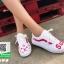 รองเท้าผ้าใบแฟชั่นสีขาว ผ้าแคนวาส ทรง VANS (สีขาว ) thumbnail 3
