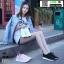 รองเท้าผ้าใบสุขภาพหุ้มยางยืดข้อสั้น 322-BLK [สีดำ] thumbnail 3