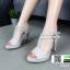 รองเท้าส้นสูงรัดส้น T-Strap G5276-GRY [สีเทา] thumbnail 2