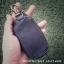 พวงกุญแจหนังแท้ แฮนด์เมด ใส่รีโมทรถยนต์ได้ ทำจากหนังวัวแท้ สีดำ นุ่มนิ่ม ทนทาน แข็งแรง พกพาง่าย พร้อมกล่องเป็นของขวัญได้ thumbnail 1