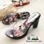 รองเท้าส้นสูงหน้าใส พื้นลายดอก 7801-7-เทา [สีเทา] thumbnail 1