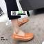 รองเท้าผ้าใบแบบสวม วัสดุหนังวัว แท้100% N926-ORG [สีส้ม] thumbnail 4