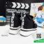 รองเท้าผ้าใบเสริมส้นสีดำ ทรงมัฟฟิน ดีไซน์เท่ๆ (สีดำ ) thumbnail 9