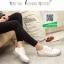 รองเท้าผ้าใบสีขาว สไตล์ michael kors Top Trainers ส้นเงิน (สีขาว ) thumbnail 5