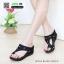 รองเท้าแตะเพื่อสุขภาพ พียู แบบหนีบ M1650-BLK [สีดำ] thumbnail 1