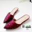 รองเท้าหัวแหลม ส้นทอง สไตล์ซาร่าห์ 10210-แดง [สีแดง] thumbnail 3