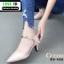 รองเท้าคัชชู หนังนิ่ม แบบเปิดข้าง B8-456-CRE [สีครีม]