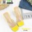 รองเท้าส้นสูงเปิดส้น หน้าใสลายจุด Q-483-YEL [สีเหลือง] thumbnail 4