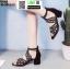 รองเท้าหุ้มส้นเปิดหน้า งานนำเข้า100% ST503-BLK [สีดำ] thumbnail 3