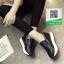 รองเท้าผ้าใบเสริมส้นสีดำ นำเข้า สไตล์เกาหลี (สีดำ ) thumbnail 2