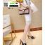 รองเท้าส้นสูงเสริมหน้า หน้าไขว้ 907-2-BLK [สีดำ] thumbnail 3